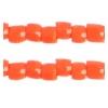 3 Cut Beads 10/0 Opaque Orange
